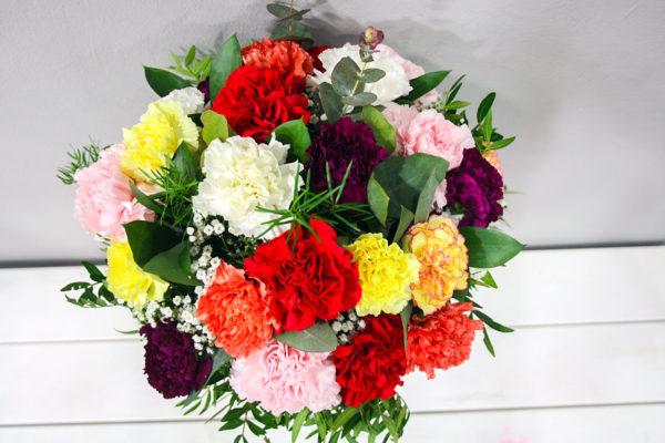 Panacea: Ramo de Flores claveles multicolor · Floristería Los Santos Niños · Alcalá de Henares · Madrid