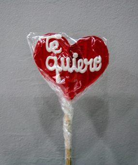 Piruleta de caramelo de tamaño grande · Floristería Los Santos Niños · Alcalá de Henares · Madrid