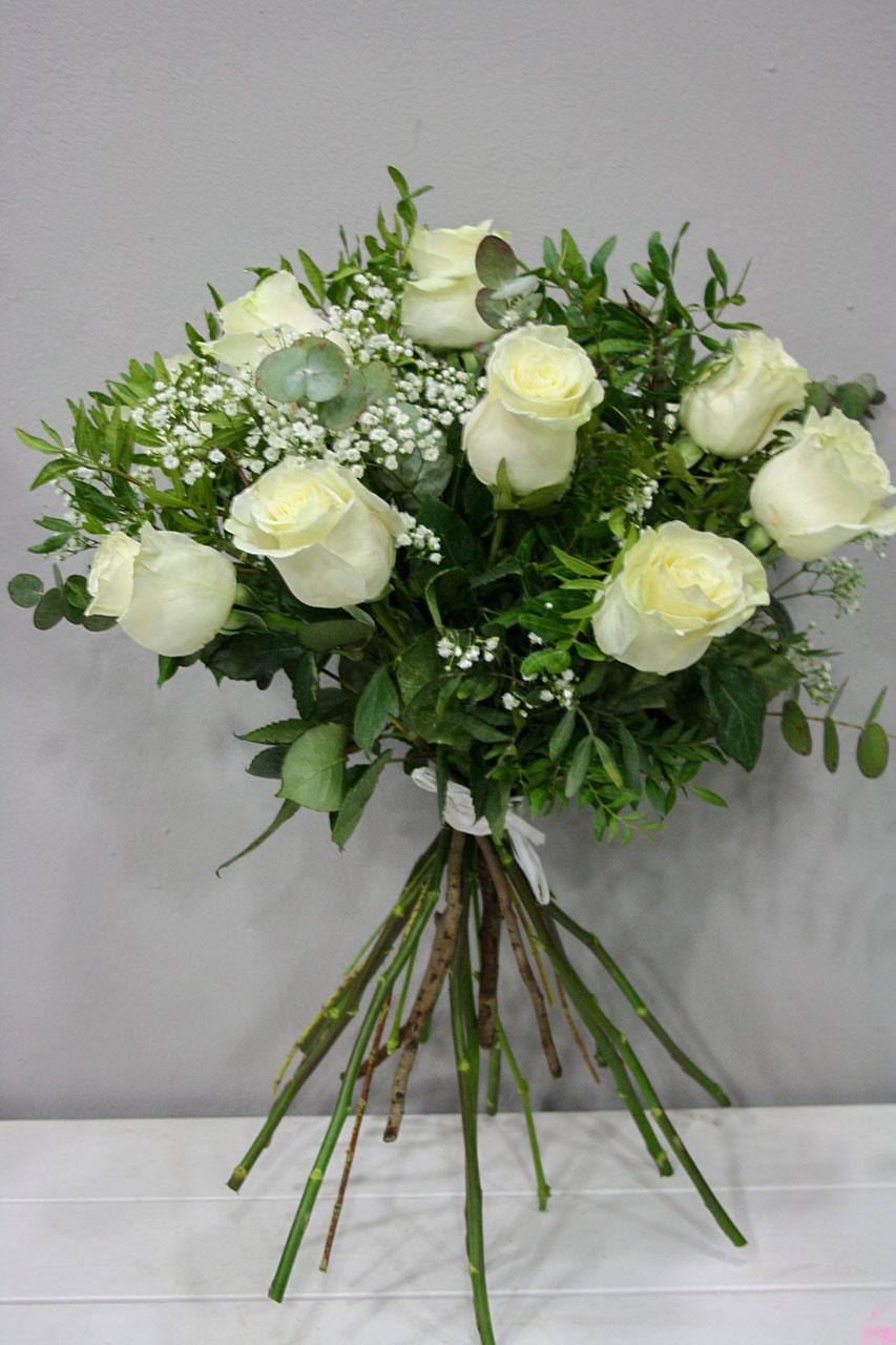 Galantis Ramo De Rosas Blancas Floristeria Los Santos Ninos - Imagenes-de-ramos-de-rosas-blancas